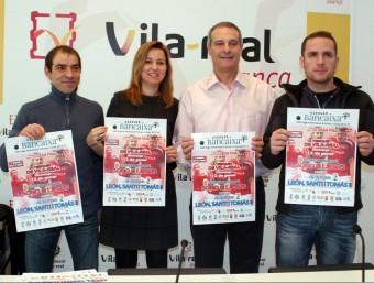 Presentació del cartell de la partida a l'Ajuntament de Vila-real. FREDIESPORT