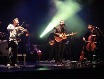 Blaumut, durant el seu concert de diumenge a Bescanó JOAN SABATER