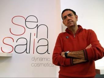Carles Pérez dirigeix l'empresa de cosmètica ubicada al polígon de Vallveric de Mataró.  QUIM PUIG