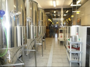 El local té un espai per a la fabricació i un de degustació.  M.M