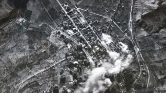 El bombardeig de la Garriga, vist des dels avions italians UFFICIO STORICO DELL'AERONAUTICA MILITARE – AJUNTAMENT DE LA GARRIGA / ARXIU FUNDACIÓ MAURÍ – LA GARRIGA / HÉCTOR DE DIEGO – AJUNTAMENT DE LA GARRIGA