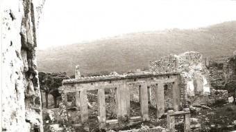 Escoles de Llers d'abans de la Guerra Civil, situades a la zona de ruïnes declarada protegida per Franco AJUNTAMENT DE LLERS