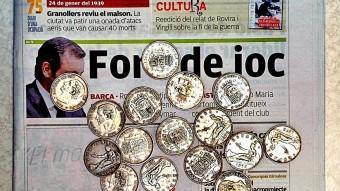 Unes monedes com les que la protagonista guarda com un tresor. JORDI SOLER