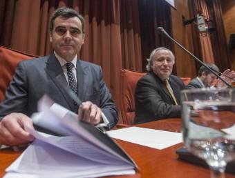 Xavier Adserà, de Veremonte, ahir al Parlament ALBERT SALAMÉ