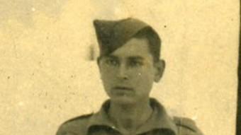 Francesc Grau i Viader, quan era a la presó a San Roque, el 1940. Arxiu família Grau