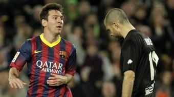 Leo Messi acaba de batre Ruben A. DALMAU / EFE