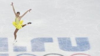 Una patinadora durant el programa curt de patinatge artístic als Jocs de Sotxi. AFP