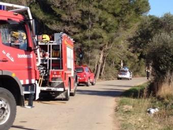Bombers i mossos treballant al lloc dels fets @gironanoticies.com
