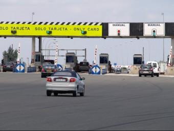 Peatge a l'Autopista AP7 al seu pas per la Safor. ESCORCOLL