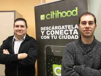 Rafa Fernández i Jordi Dachs, dos dels quatre emprenedors que han tirat endavant Citihood.  JORDI ALEMANY