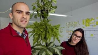 Xavier Rius, fundador, i Marta Rius, arquitecta i dissenyadora gràfica són el cor de Citysens.  JOSÉ CARLOS LEÓN