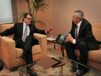 Artur Mas amb Jean Marc Pujol en 2012, l'any on es van signar els acords electorals entre la UMP i CDC per la Catalunya Nord A.R