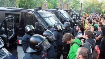La protesta dels indignats al Parlament, el juny del 2011. ANDREU PUIG
