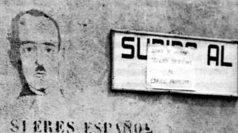 Prohibició del català en temps del franquisme