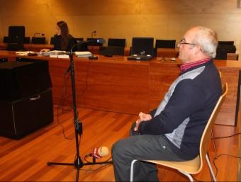L'imputat ahir al judici, a la secció tercera de l'Audiència de Girona XAVIER PI (ACN)