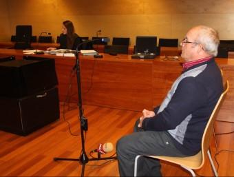 Francisco Martínez Cruz durant el judici, que es va celebrar la setmana passada a l'Audiència de Girona ACN