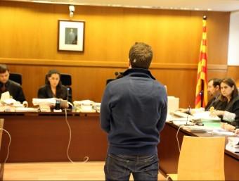 L'acusat , Marc Barbarà, en el judici a la secció 21 de l'Audiència de Barcelona, celebrat el març passat QUIM PUIG