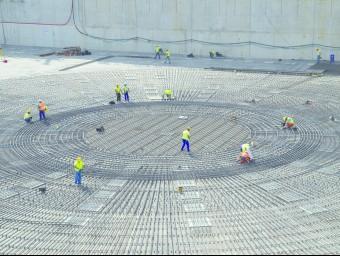 Imatge de la construcció de la infraestructura científica a Cadarache (França).  ITER