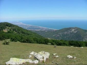Vista panoràmica del Puig Neulós i la Costa Vermella EL PUNT AVUI