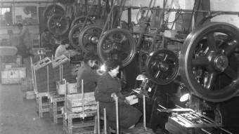 Imatge d'un taller industrial de postguerra AJUNTAMENT DE GIRONA - SGDAP