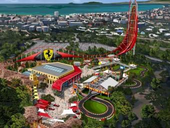Una imatge virtual de la fesomia que tindrà la nova àrea Ferrari Land EL PUNT AVUI
