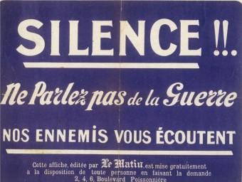 Atenció, espies! Cartell distribuït per la premsa francesa. ARXIU