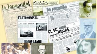 Una mostra de les capçaleres en català existents abans de la dictadura, amb algunes imatges de destacats periodistes de l'època, la majoria dels quals van deixar d'exercir ARXIU