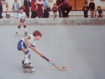 Imatge de quan era petit en el mateix escenari EL9