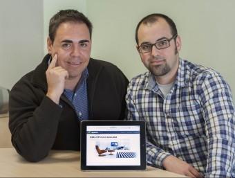 Victor Quintana i Aleix Solé, dos dels sis socis d'Iguana Comunicacions.  JOSEP LOSADA
