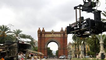 El rodatge de 'Los últimos días', un film de catàstrofes, al passeig Lluís Companys de Barcelona BARCELONA FILM COMMISSION