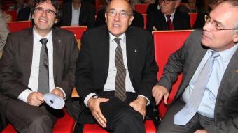 Puigdemont , el conseller Ruiz, i Torramadé, en una imatge d'arxiu. JOAN SABATER