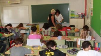 Una aula de l'escola Vall d'Aro, en una imatge d'arxiu. EMILI AGULLÓ