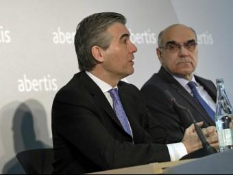 F. Reynés amb S. Alemany, president d'Abertis.  EFE