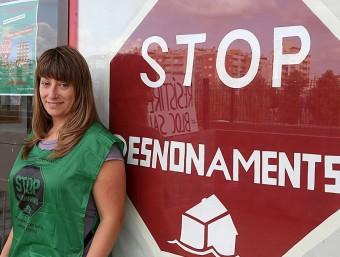 La fins ara portaveu de la PAH a Girona, Marta Afuera MANEL LLADÓ