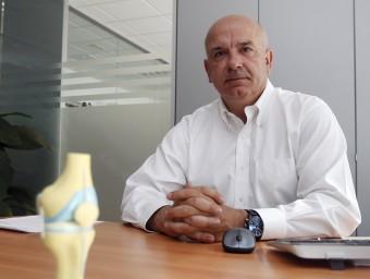 Joan Sagalés, que va ser un destacat jugador de la secció d'handbol del Barça, és el president de Medcomtech.  ORIOL DURAN