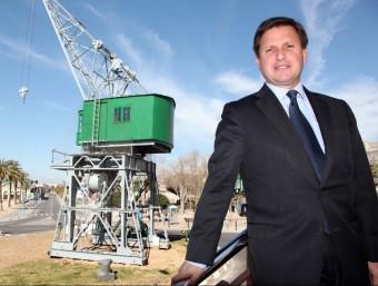 Josep Andreu assegura que la capacitat del port tarragoní per a fer inversions, a un ritme mitjà d'entre 20 i 30 milions d'euros l'any, no queda compromesa tot i la sotragada del 2013.  JUDIT FERNANDEZ
