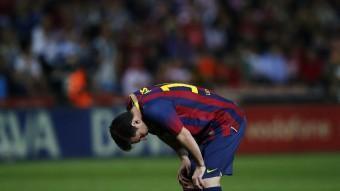 Messi, abatut, en un moment del partit REUTERS