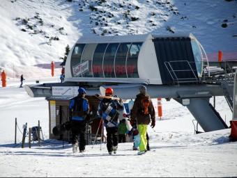 Esquiadors a Boí Taüll durant el pont de la Puríssima del 2013.  ACN
