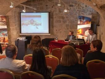 Presentació del nou web municipal de Caldes de Malavella, la setmana passada. EL PUNT