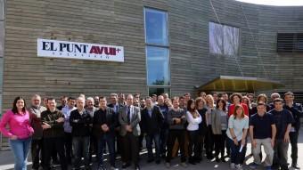 L'equip complet que intervindrà en els diferents programes de producció pròpia d'El Punt Avui Televisió a partir de dimarts QUIM PUIG