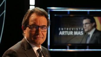 El president de la Generalitat al plató de El Punt Avui Televisió ANDREU PUIG