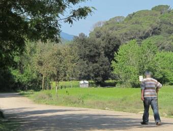 La riba esquerra del Ter dins al terme municipal de Sant Gregori, a l'alçada de la passera que uneix aquest municipi amb el de Bescanó J.N