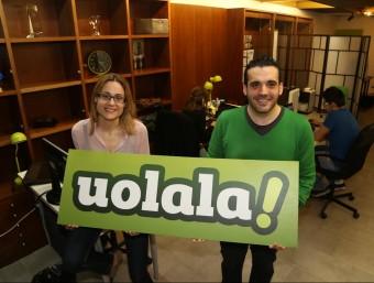 Els fundadors de Uolala, Marta Gimeno i Miquel Clariana.  ANDREU PUIG