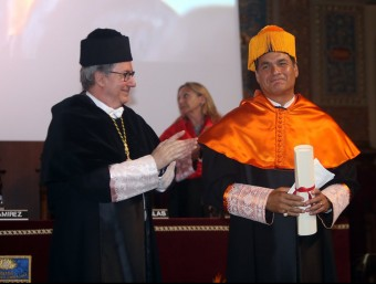 Investidura com a Doctor Honoris Causa del president d'Ecuador, Rafael Correa.  JUANMA RAMOS