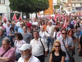 Manifestants del passat 1 de Maig de 2013. ESCORCOLL