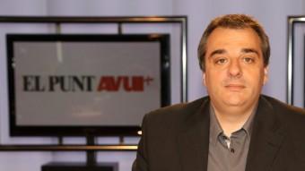 El periodista Andreu Mas, conductor i presentador del programa 'CAT escaldat' ANDREU PUIG