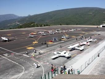 L'aeroport de la Seu d'Urgell en la seva reobertura, el juny del 2010. MARTA LLUVICH / ACN