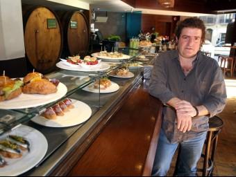 Iñaki López de Viñaspre en un dels restaurants de Sagardi a Barcelona.  JUANMA RAMOS
