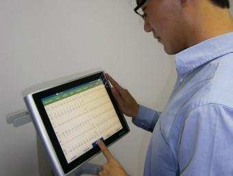 Imatge d'un dels models d'electrocardiògraf portàtil de Gem-Med.  ARXIU