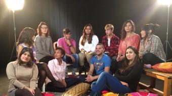 Els joves que van participar en el documental de TV3. TV3